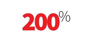 200% guarantee